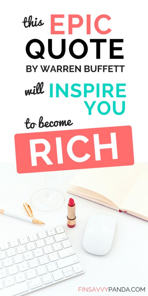 passive income ideas / warren buffett quotes / warren buffett money tips / passive income how to / inspirational quotes