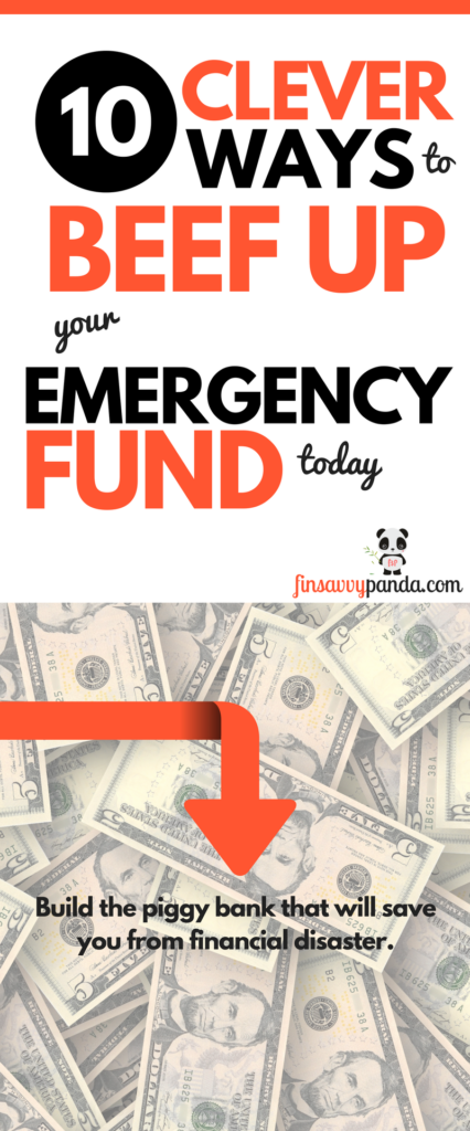 saving money tips / frugal saving tips / build emergency fund via www.finsavvypanda.com