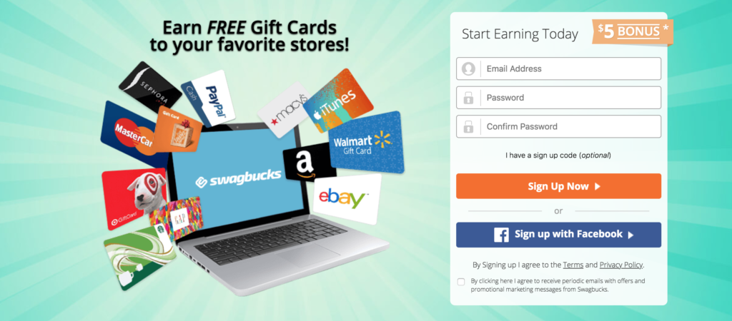 how to stop buying things - earn free gift cards with Swagbucks