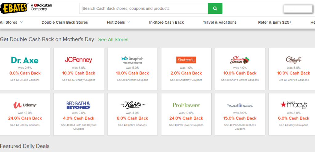 earn extra money with ebates - home page