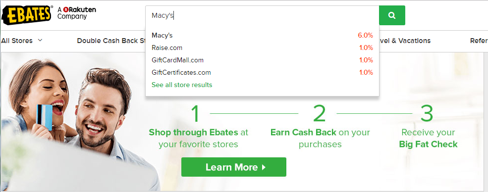 earn extra money by shopping through ebates
