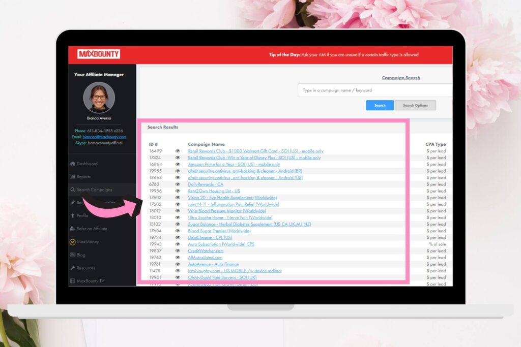 make money affiliate marketing for beginners maxbounty