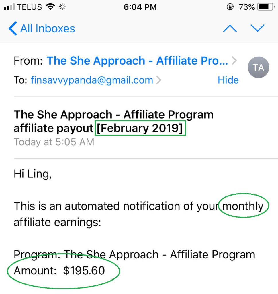 blog income report february 2019 - she approach