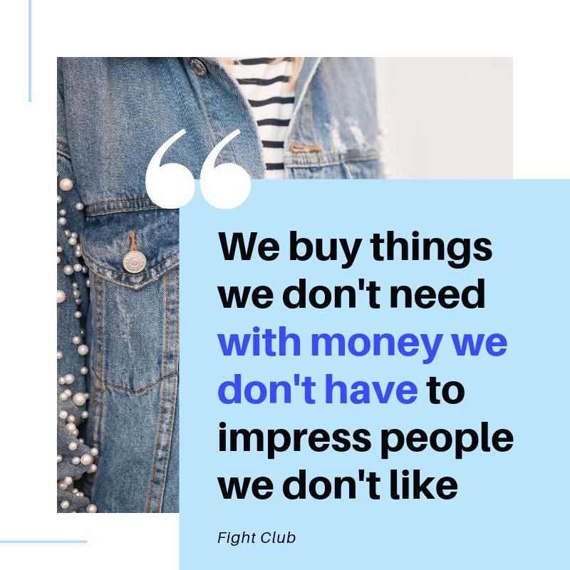 how to stop spending money quote