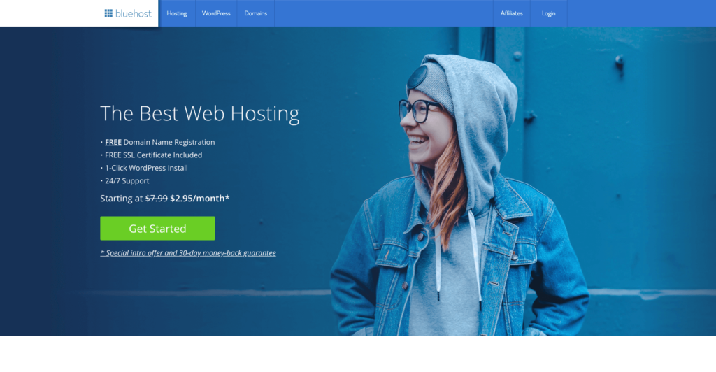 How to start a blog with Bluehost plan 1