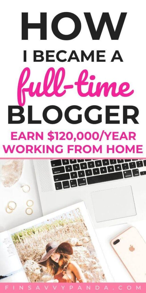 how to become a full time blogger career