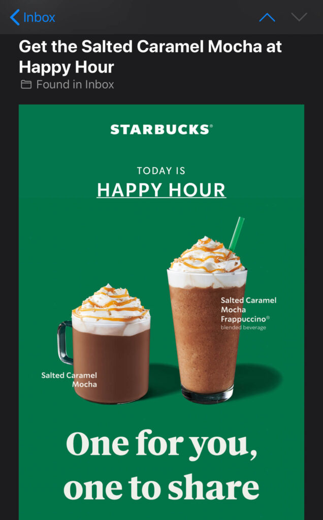 starbucks happy hour and starbucks specials