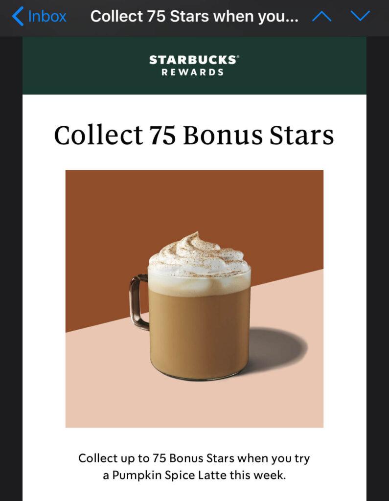 starbucks special bonus stars