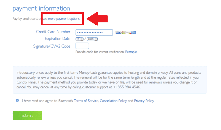 how to start a blog payment information