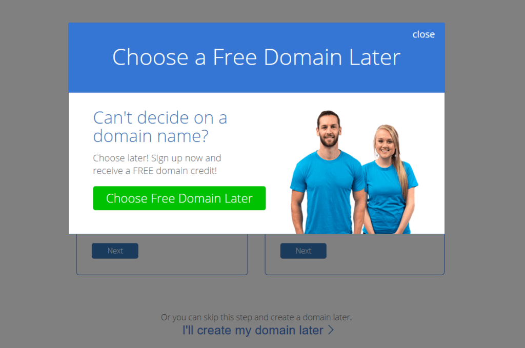 how to start a blog and make money bluehost choose domain name later