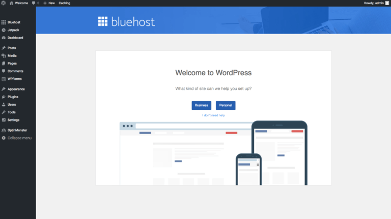 how to start a blog and make money bluehost start building