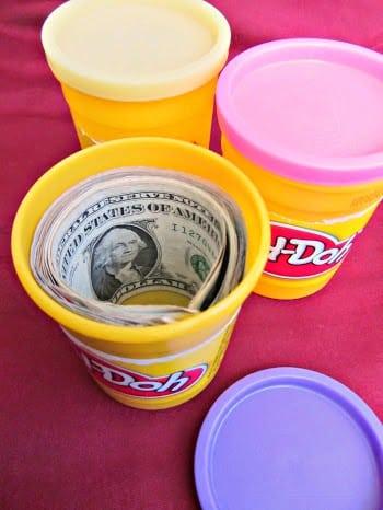 Playdough Money Gift Idea