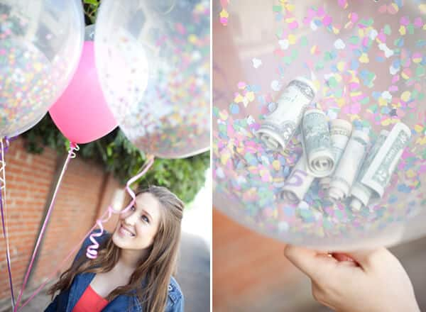 creative ways to give money balloons
