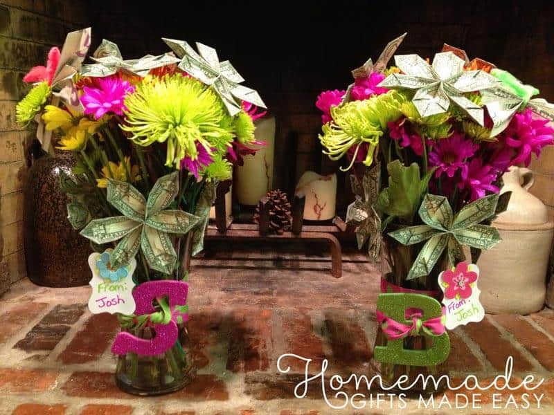 creative ways to give money origami money flowers