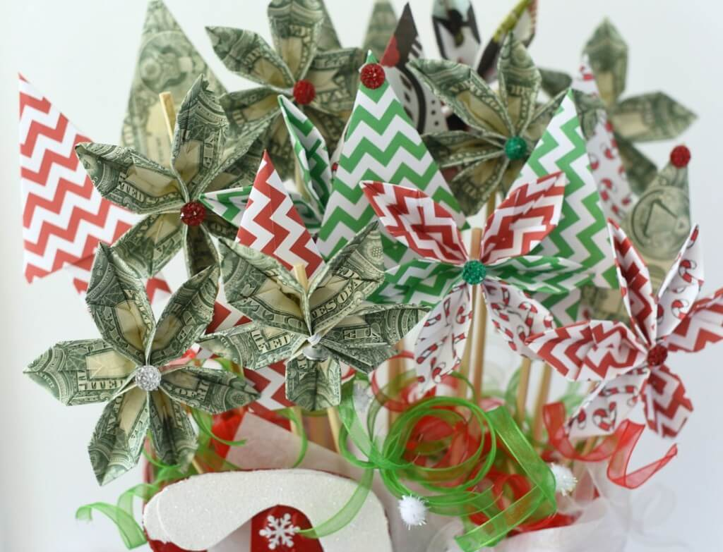 fun ways to give money bouquet
