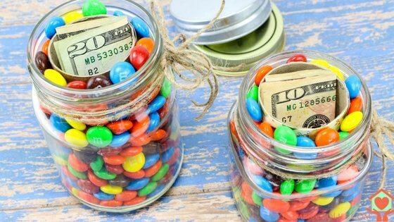 hidden money mason jar gift