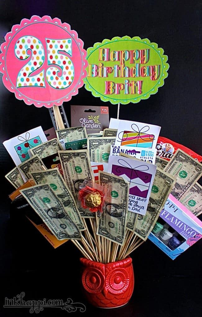 money gift basket
