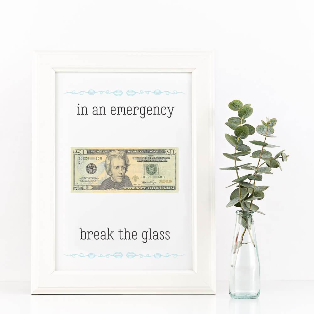 money gift ideas emergency cash
